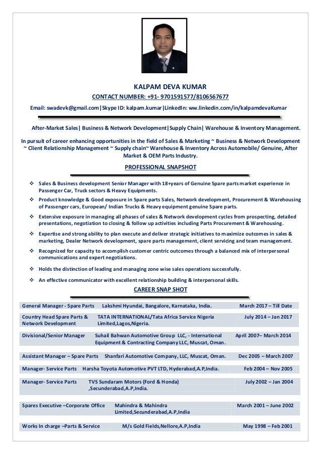 Cv in pdf format kalpam deva kumar 2018
