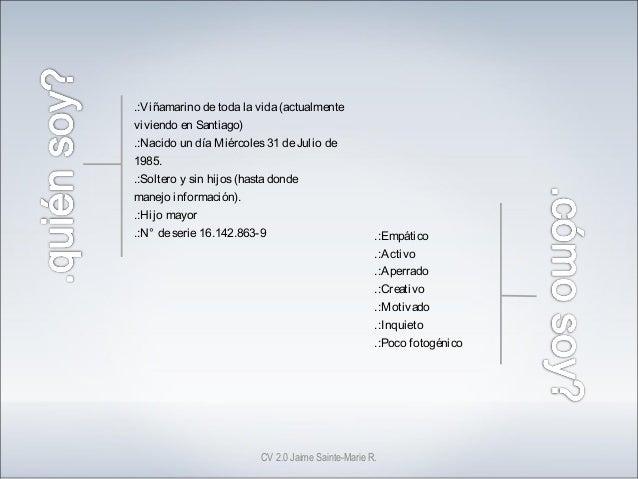 CV Jaime Sainte-Marie Slide 2