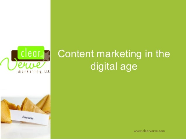 Content marketing in the digital age