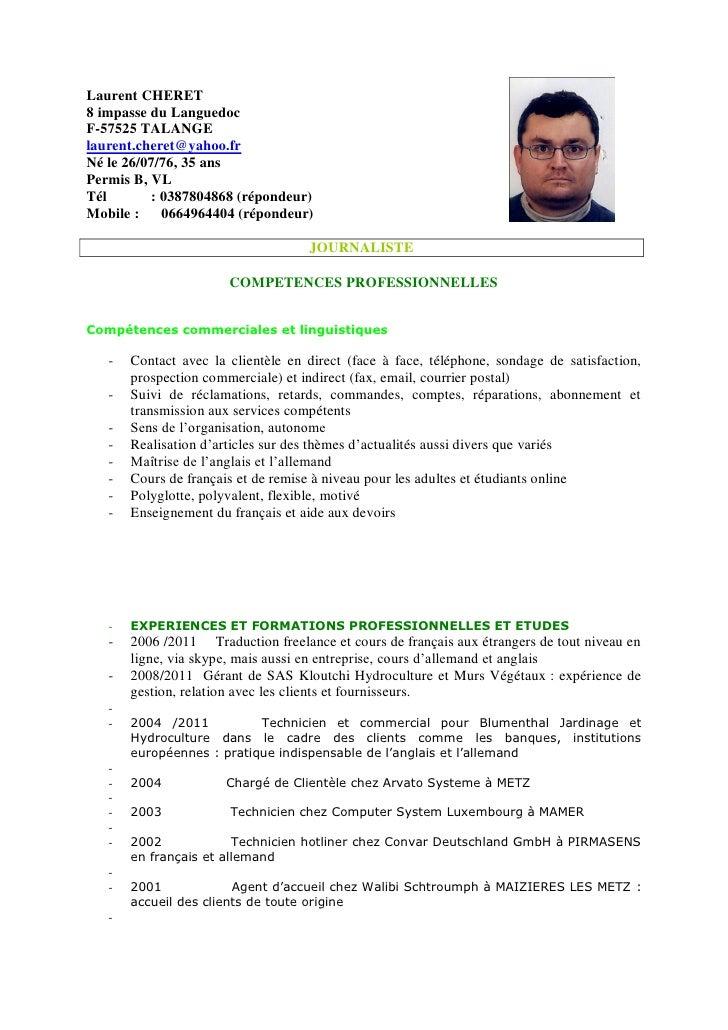 cv journaliste