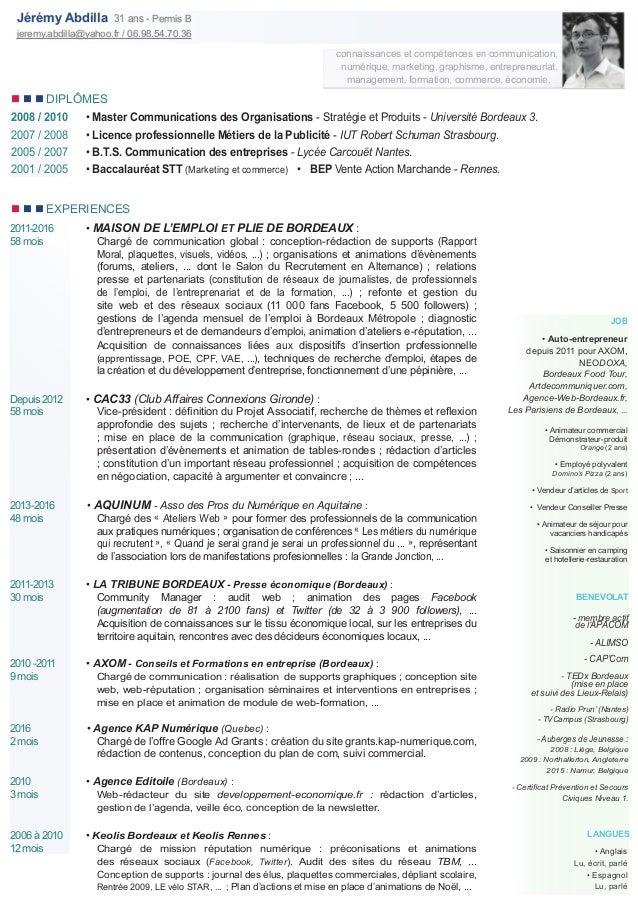 connaissances et compétences en communication, numérique, marketing, graphisme, entrepreneuriat, management, formation, co...