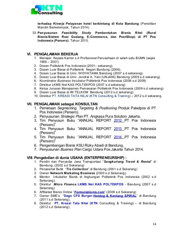 format curriculum vitae narasumber