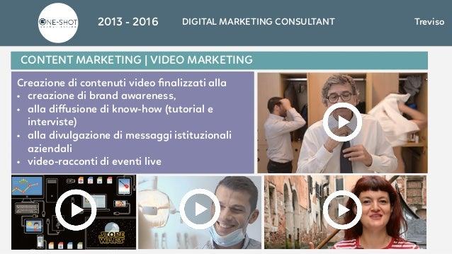 Creazione di contenuti video finalizzati alla • creazione di brand awareness, • alla diffusione di know-how (tutorial e inte...