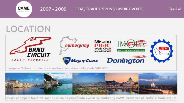 LOCATION European Motorsport Circuits - Location Campionato Mondiale SBK 2010 Alcuni esempi di location italiane in cui ho...