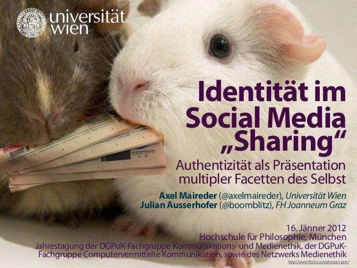 #sharingsstudie                                         Identität im                                        Social Media  ...