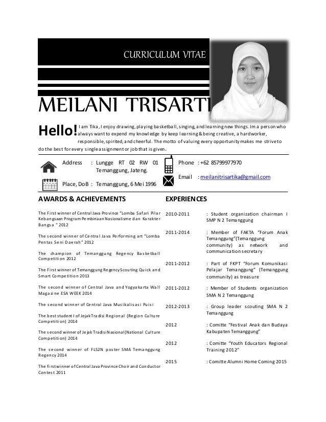 Meilani Trisartika Cv Kreatif