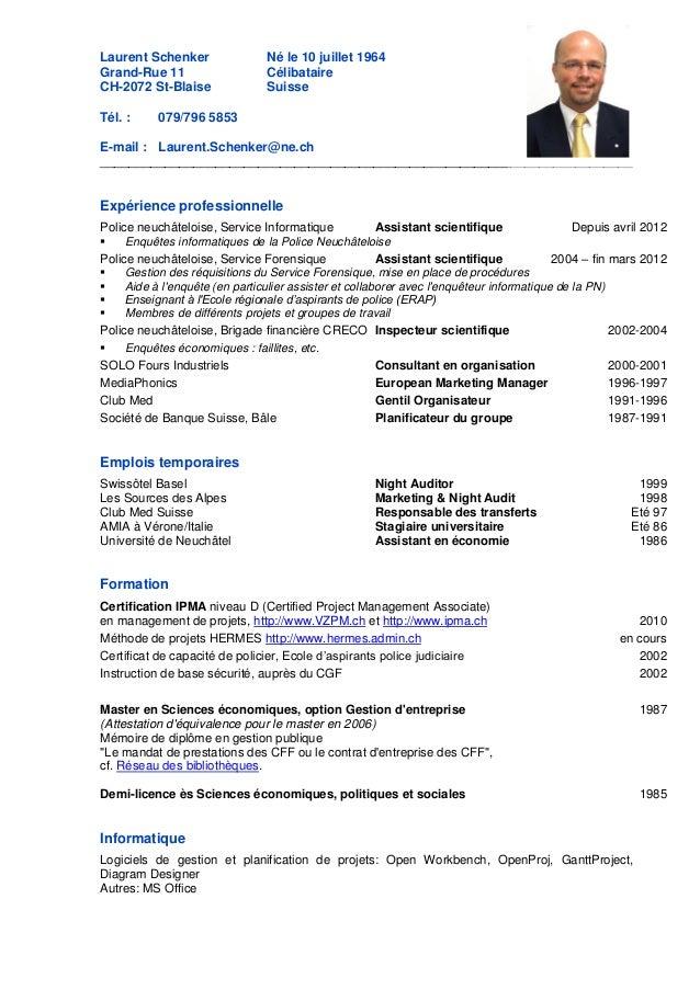 modèle cv suisse modele cv suisse allemand   CV Anonyme modèle cv suisse