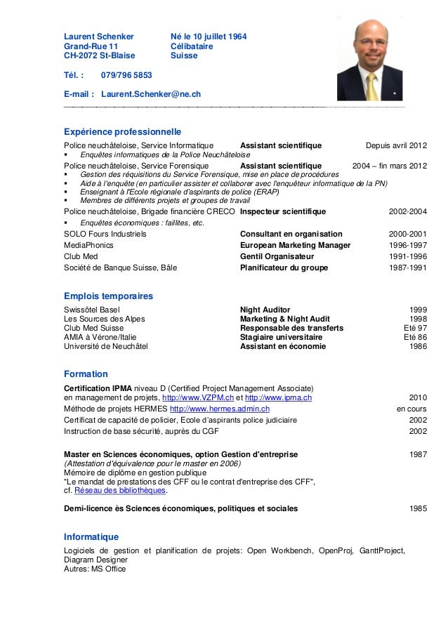 modele cv suisse romande modele cv suisse romande   CV Anonyme modele cv suisse romande