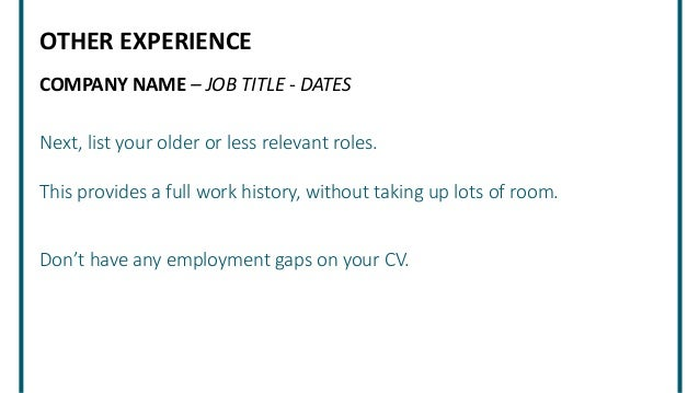 How To Put Together A CV Resume