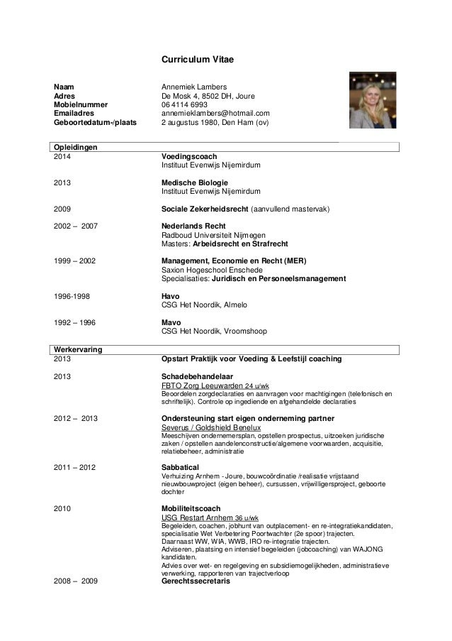 CV Annemiek Lambers