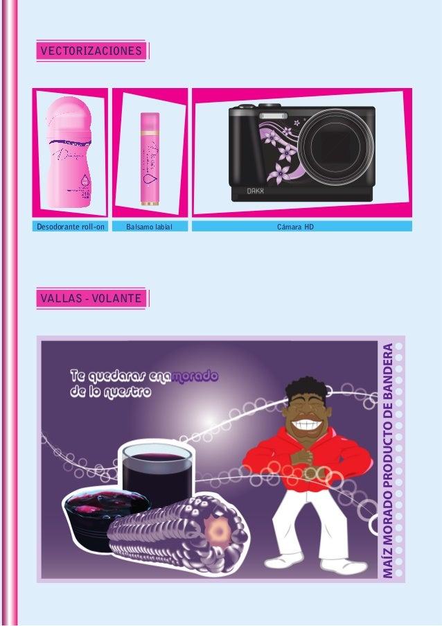 VECTORIZACIONES VALLAS - VOLANTE Desodorante roll-on Cámara HDBalsamo labial MAÍZMORADOPRODUCTODEBANDERA