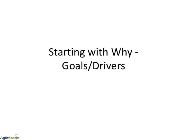 Starting with Why - Goals/Drivers