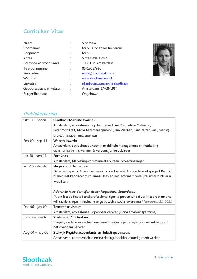 CV Mark Sloothaak