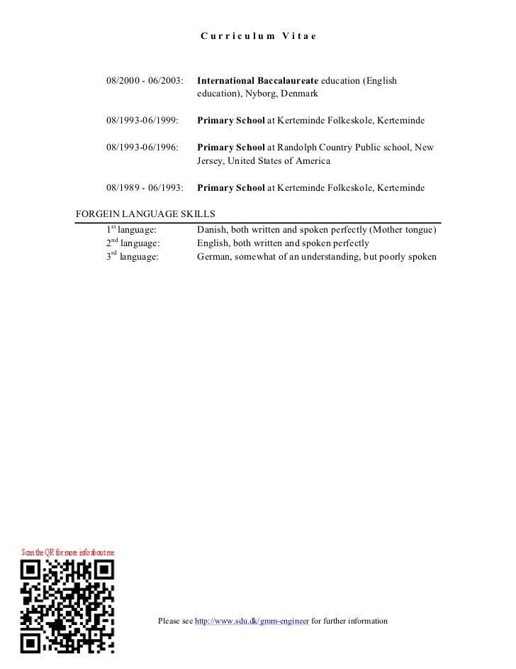 Curriculum Vitae Slide 2