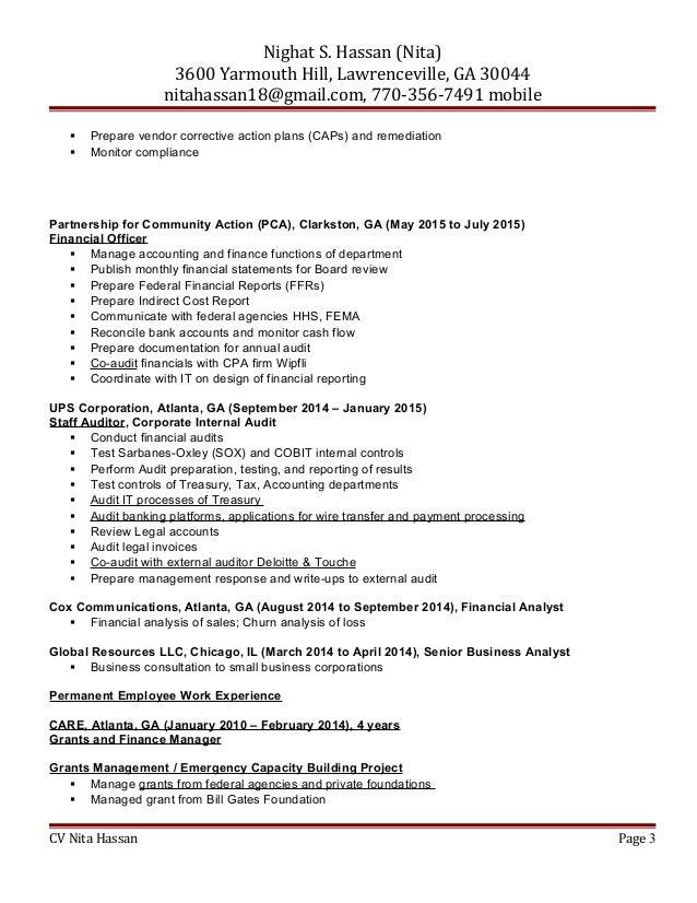 ... CV Nita Hassan Page 2; 3.  Bill Gates Resume