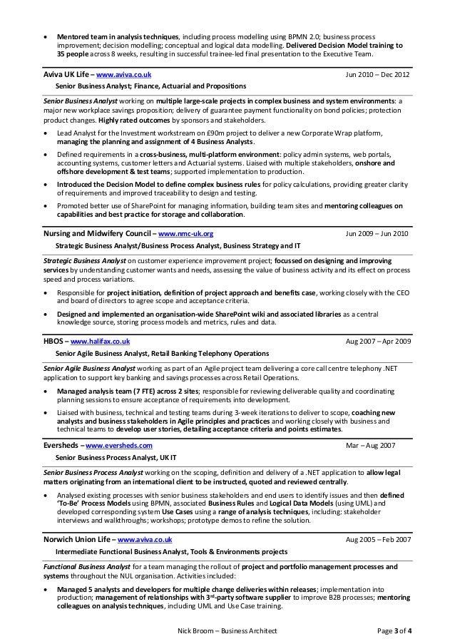 latest cv resume nick broom