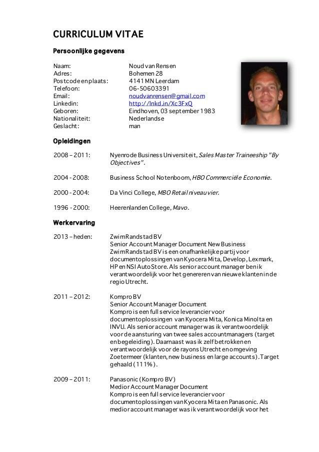 CV Noud van Rensen 2013