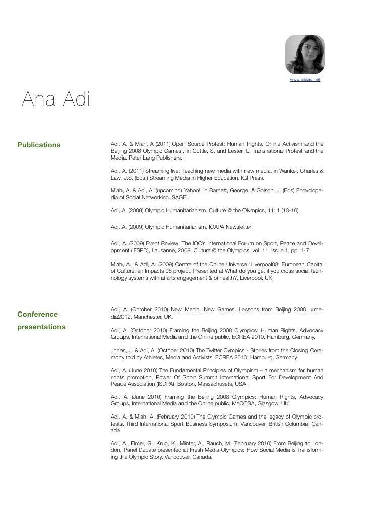 my cv wwwanaadinet ana adipublications adi a miah