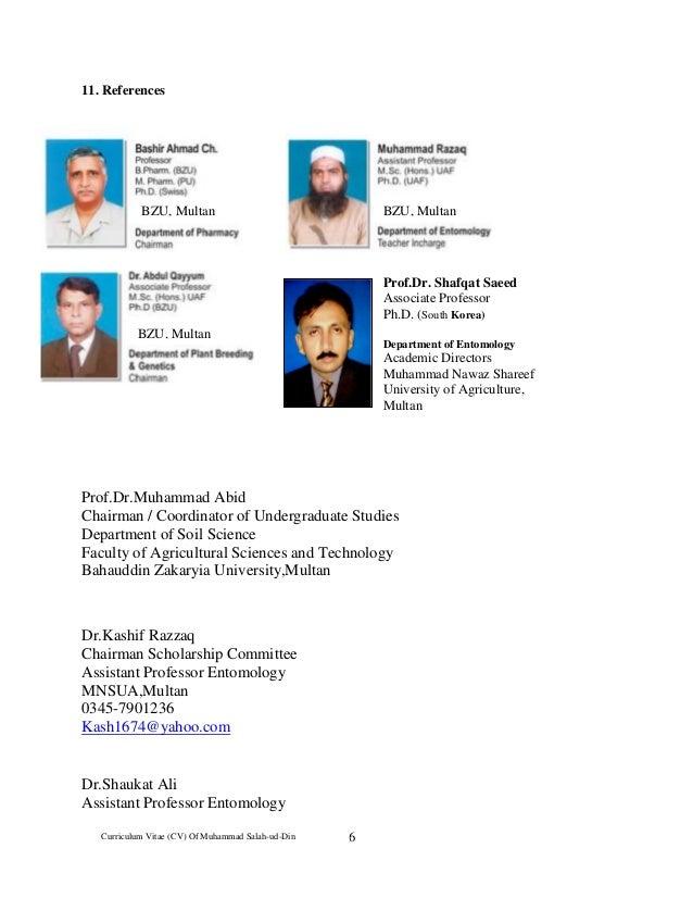 cv of controller of examination mr m salah ud din 2016