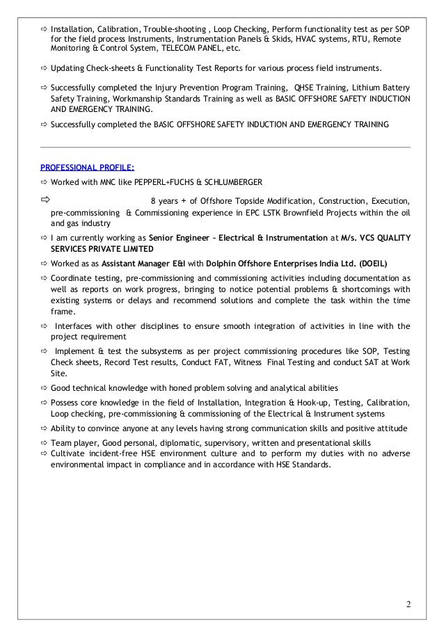 cv of jeevan ranadive senior engineer e u0026i 9