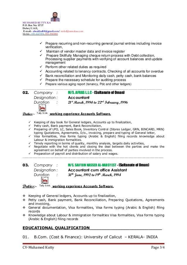 property leasing manager resume cv of muhamed kutty property leasing manager senior accountant - Leasing Manager Resume