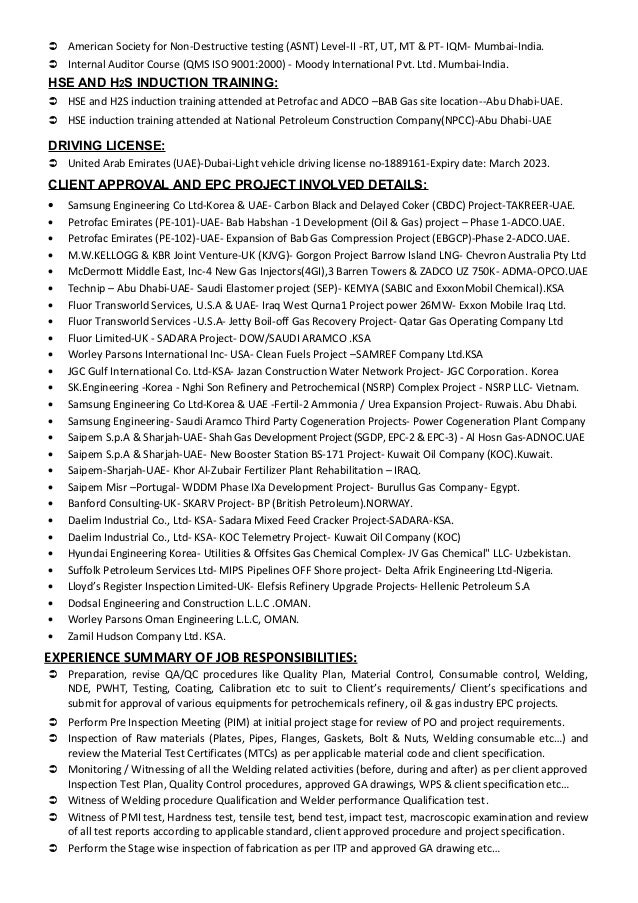 Ealumalai Muthu CV For API Inspector Or Plant Inspector Or Inspec Quality  Assurance Analyst Resume Sample