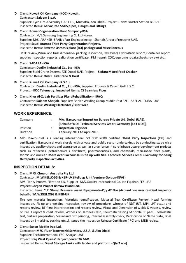 Qc Welding Inspector Cover Letter Sample Resume For Accounting ...