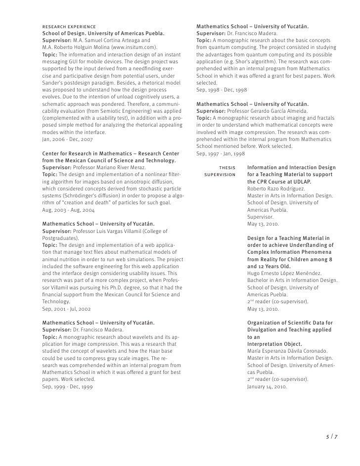 curriculum vitae udlap