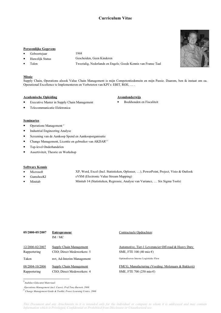 Curriculum Vitae (Nederlands)