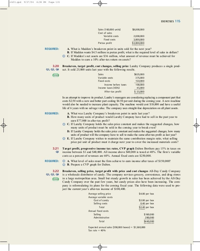 3 36 cvp analysis and price changes Cvp analysis and price changes complete problem 3-36 and submit to instructor.