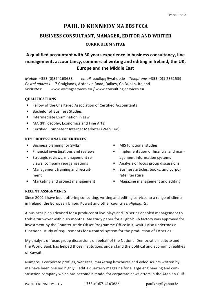 management accountant cv - Template