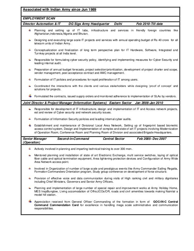 Resume For Indian Army Cv Doc Safety Competence Human Resources