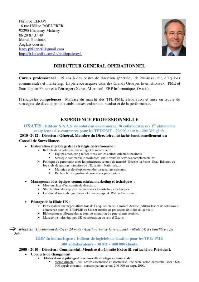 Curriculum Vitae: Curriculum Vitae En Francais