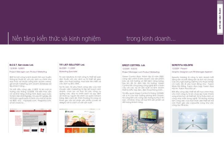 CV & Portfolios - Ta Nguyen Thy 2011