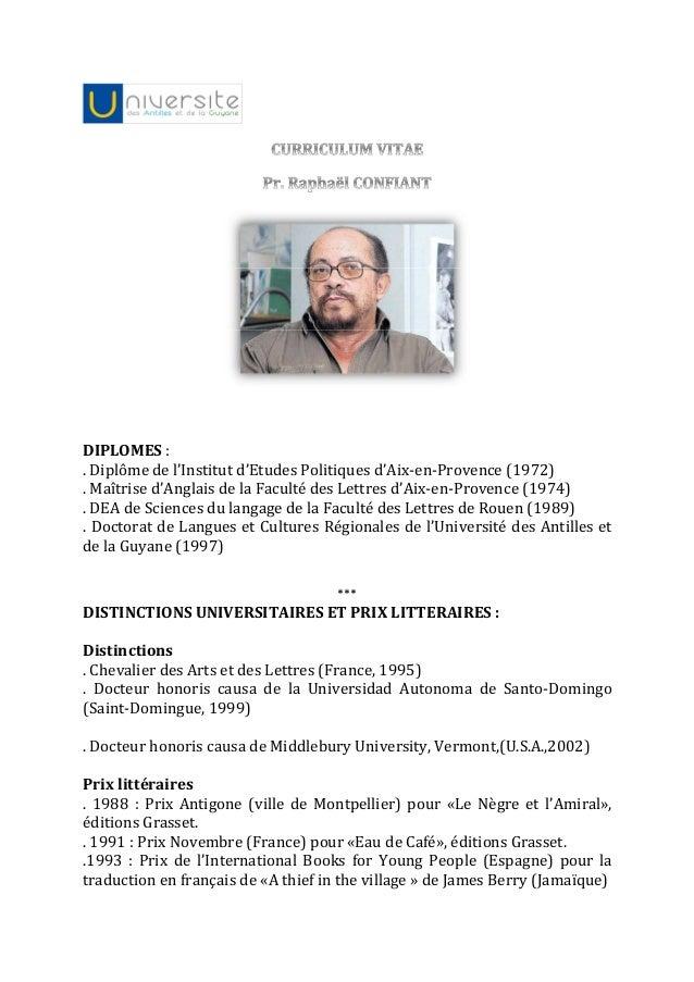DIPLOMES :. Diplôme de l'Institut d'Etudes Politiques d'Aix-en-Provence (1972). Maîtrise d'Anglais de la Faculté des Lettr...
