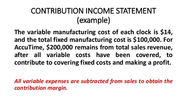 Cvp Relationships And The Income Statement  Cost Structure And Opera