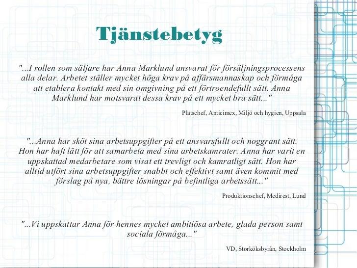 cv presentation anna marklund