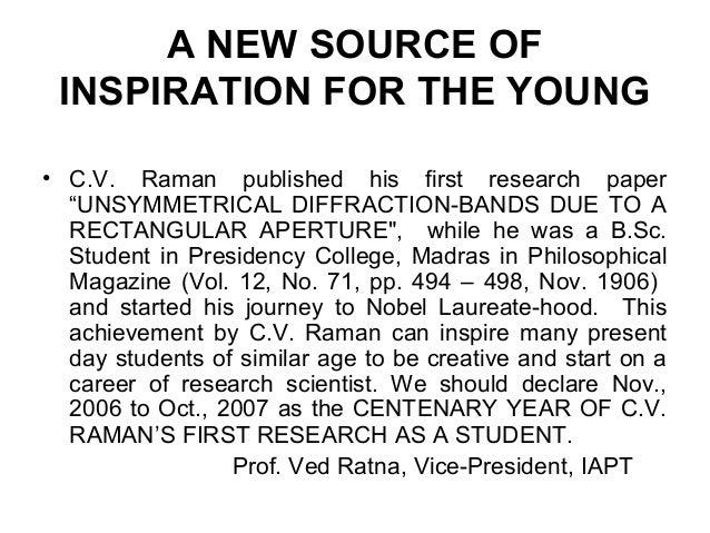 essay on achievements of cv raman