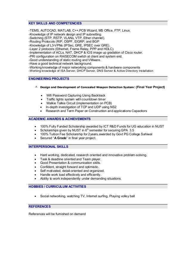 key skills and competencies on cv rio ferdinands co