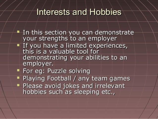 activitiescommunity based activities 24 interests and hobbiesinterests and hobbies