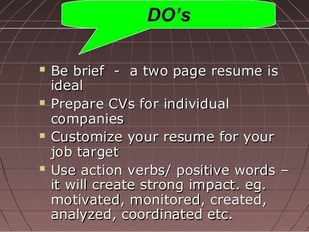 Short Bio For Resume