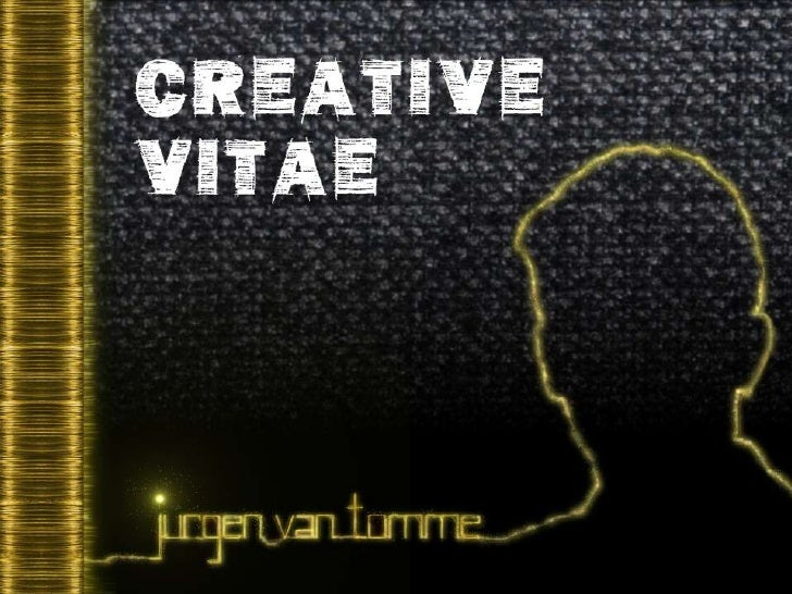 Creative Vitae Jurgen Van Tomme (cv)