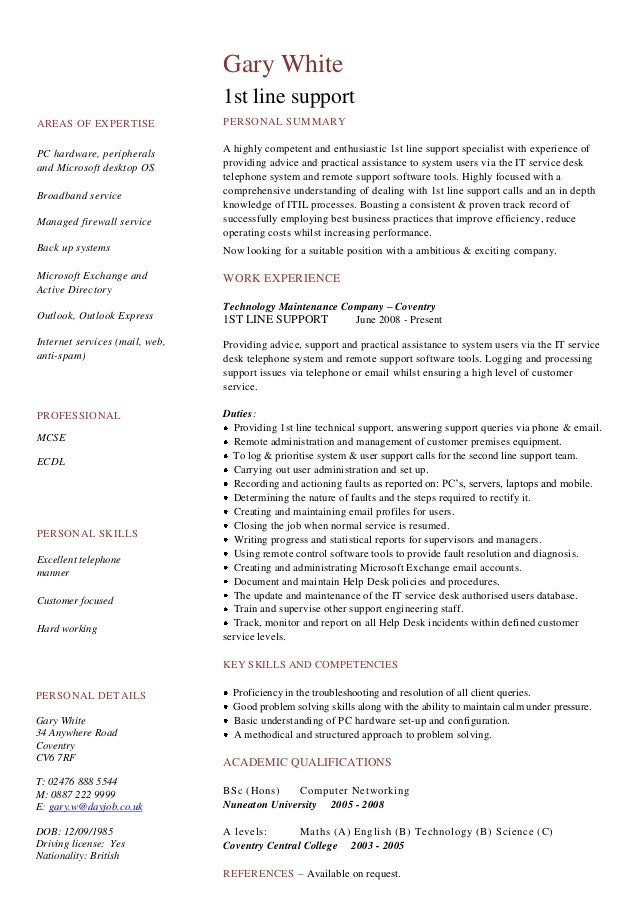 cv resume examples to download for free slideshare