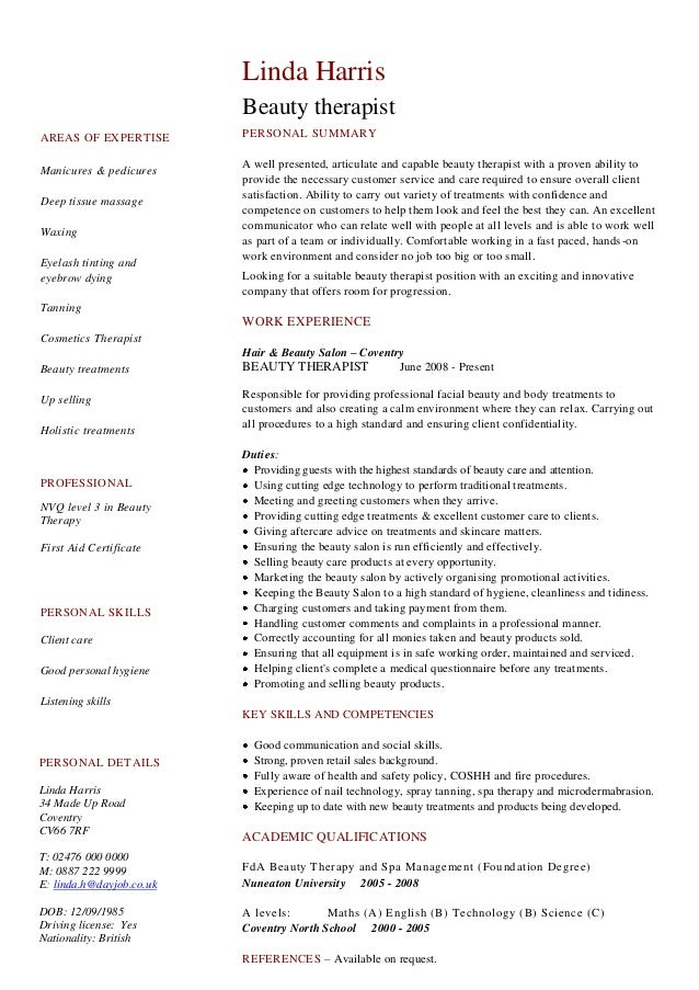Cv And Resume Sample