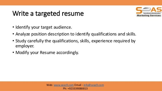 18 write a targeted resume