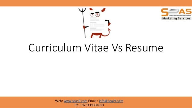 The Difference Between a Resume and a Curriculum Vitae Brefash