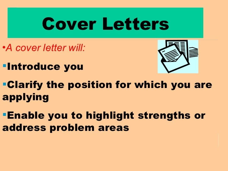 my c.v. and covering letter