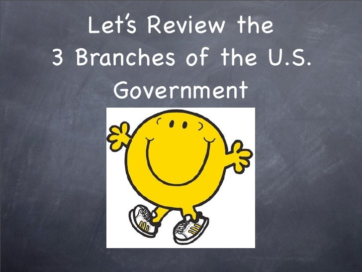 Let's Review the 3 Branches of the U.S.      Government