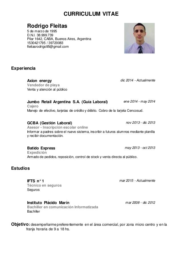 Modelo Curriculum Vitae Elita Mydearest Co