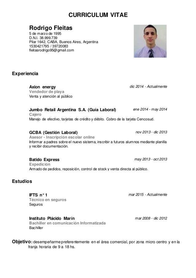 Modelo Curriculum Vitae Argentina 2016